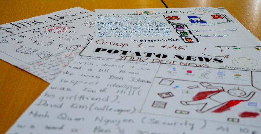 classroom crime scene news writing