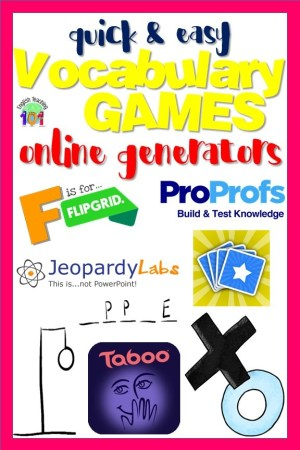 Free Word Games Maker Online | English Teaching 101