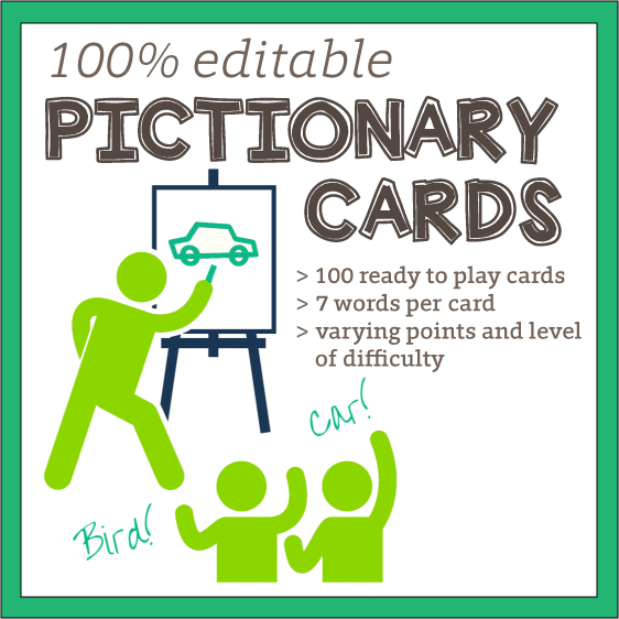 Pictionary Word Cards 100 Editable English Teaching 101english