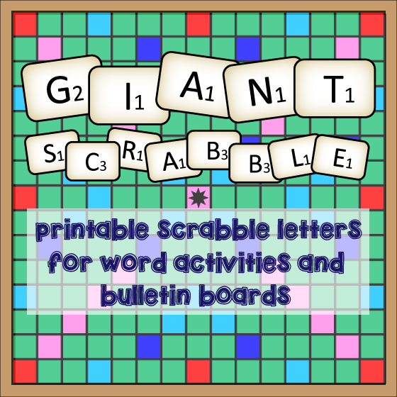 picture about Printable Scrabble Board Pdf known as Large Scrabble for Vocab Game titles / Bulletin Board English