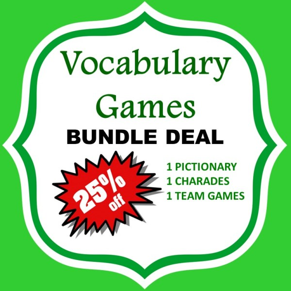 vocabulary games bundle