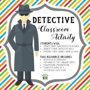 detective classroom activity