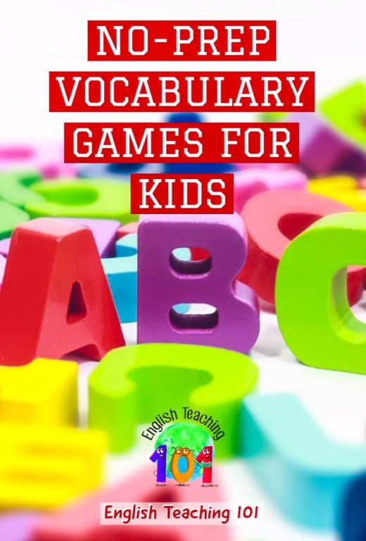 Language games and activities for kids and young learners