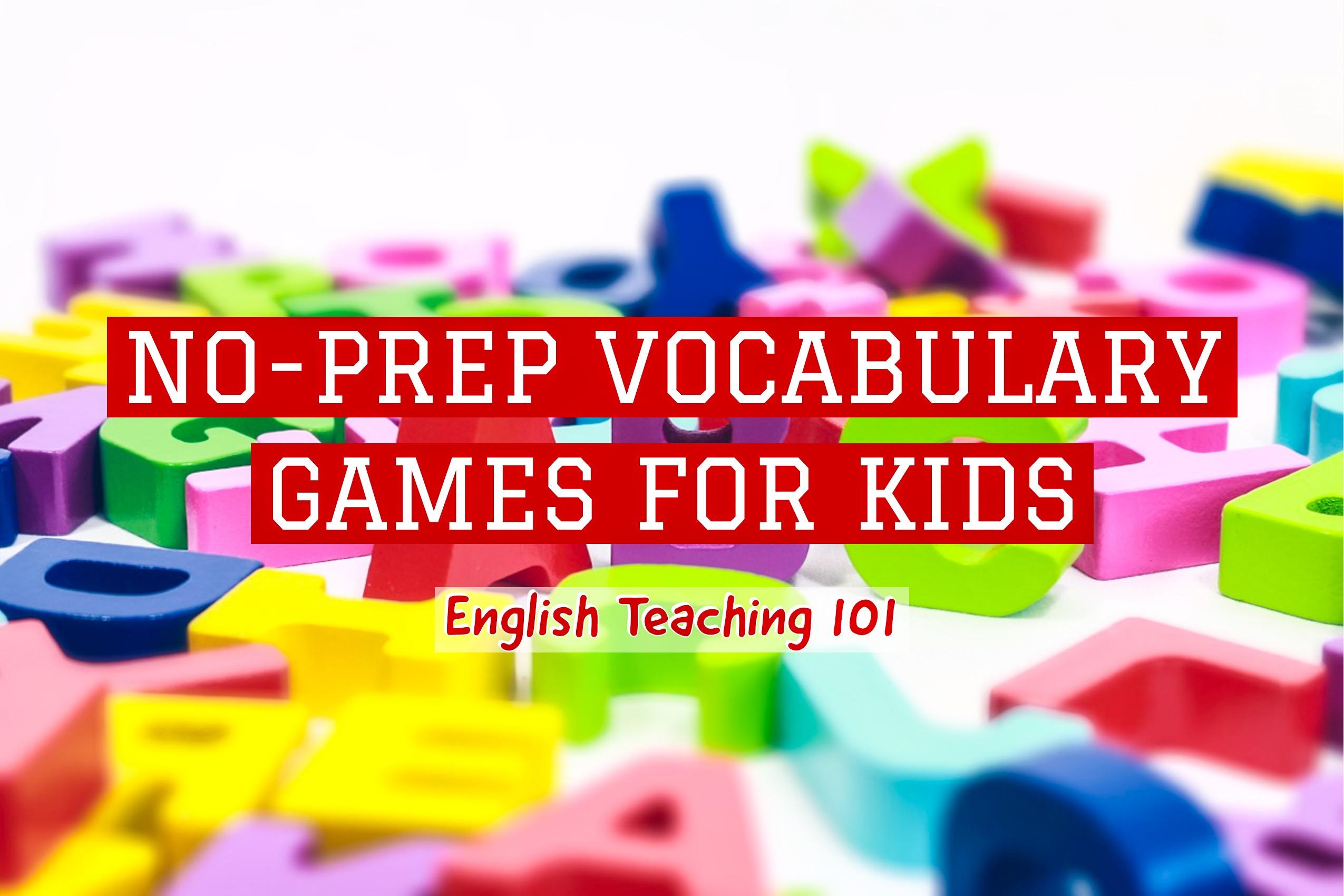 no-prep vocabulary games for kids