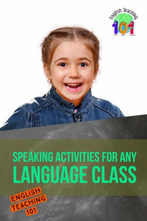 classroom conversation activities for esl / efl classes