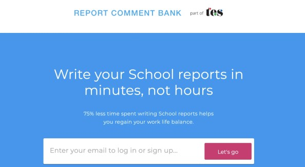 Report comment bank