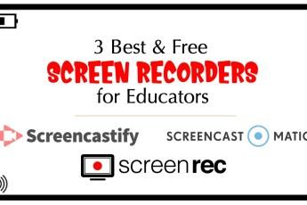free screen recorders for educators