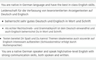 What's a multilingual copywriter?