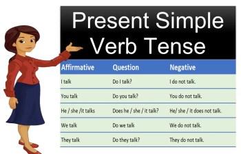 present simple verb tense