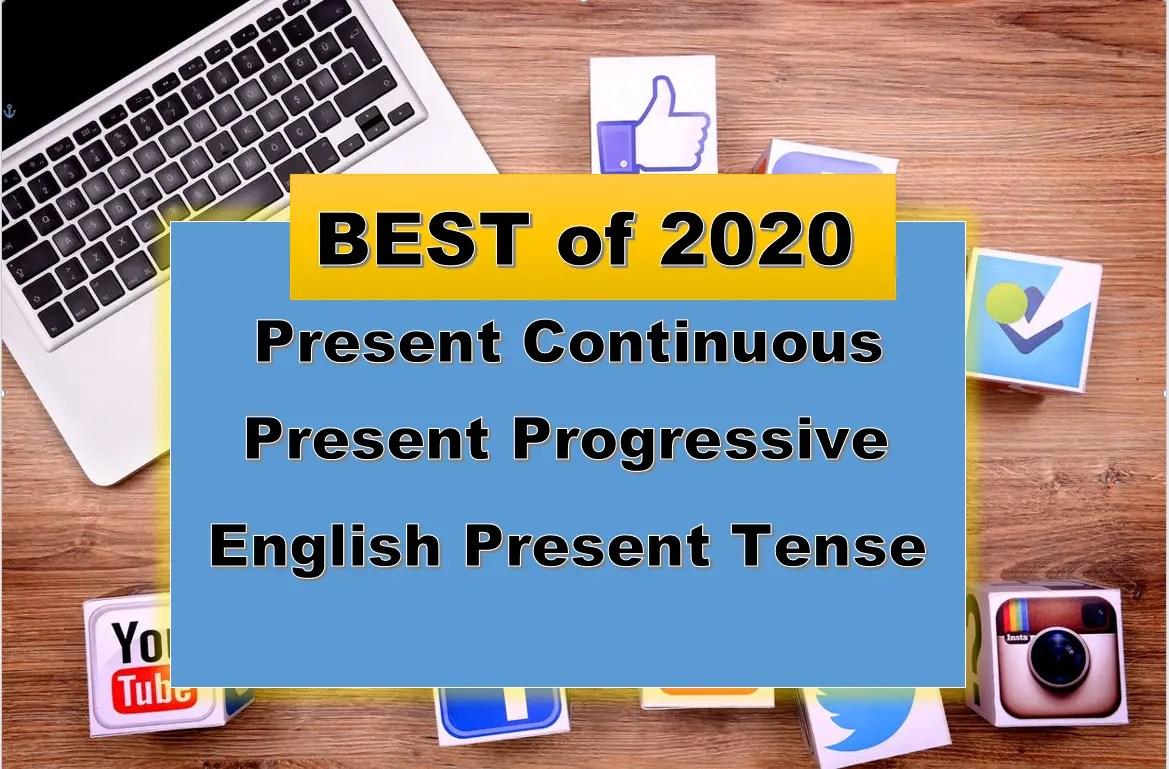 Present Continuous Verb Present Progressive Verb English Present Tense