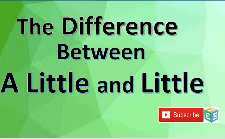 Difference Between a Little and little