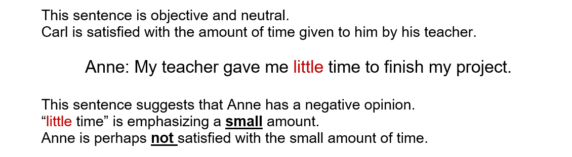 little and a little in english