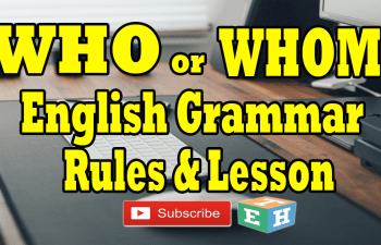 who or whom english grammar rules and lesson