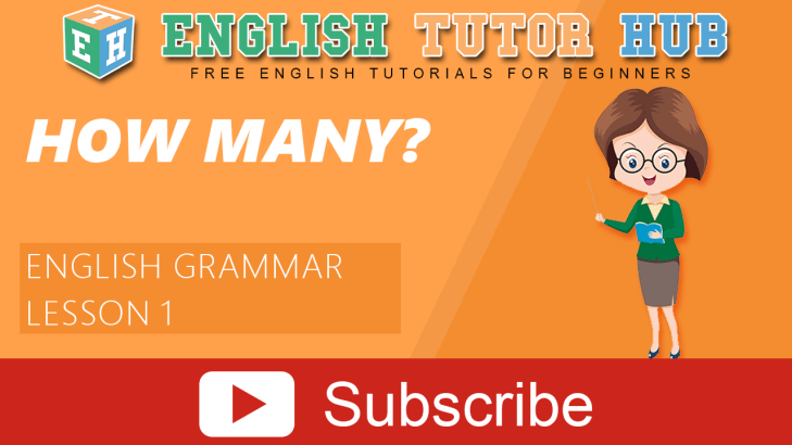 HOW MANY? |Grammar lesson | Level 1