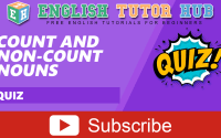 Count and Non-count Nouns | Quiz