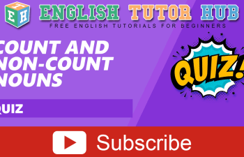 Count and Non-Count Nouns Lesson and Quiz