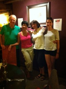 Christine and her family gave us a lovely surprise one Friday evening a few weeks after finishing her course with me.