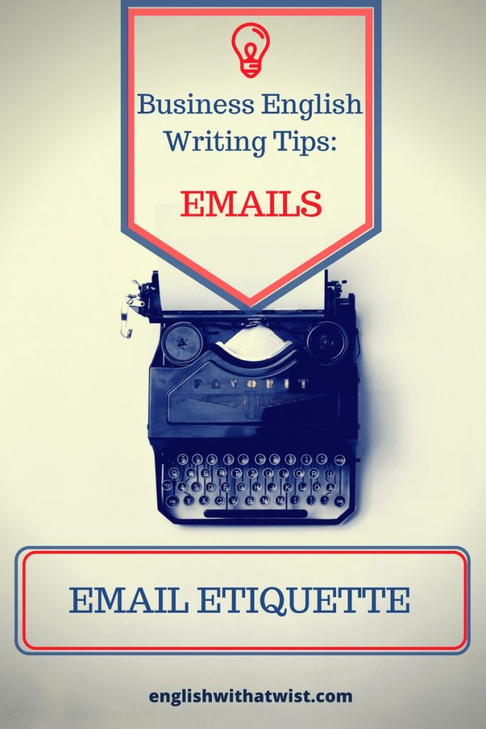Business writing tips email