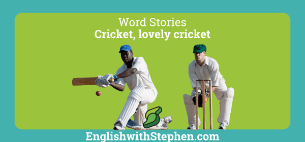 Expressions in English from the sport of cricket, by English with Stephen
