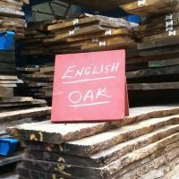 english oak stack in the kiln dried timber shed