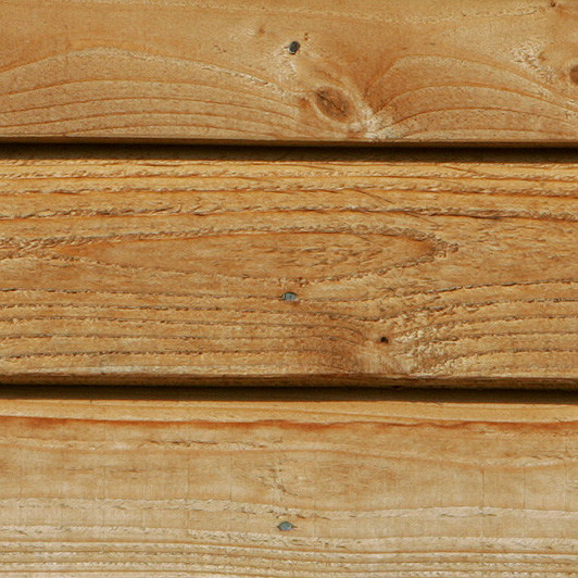 WRC fresh sawn cladding showing fine sawn surface texture