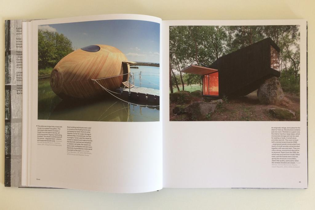 the exbury egg by pad studio features in wood architecture book: wood by william hall and richard mabey