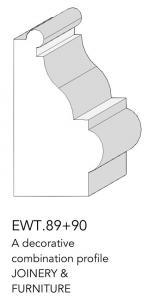 joinery and furniture profile and moulding EWT 89+90