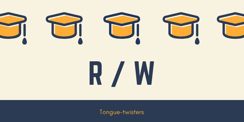 r and w tongue twisters