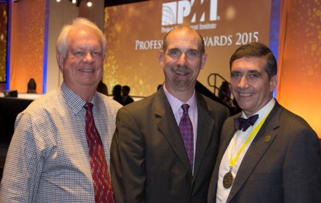 photo of Randy Englund, Mark Langley, and Alfonso Bucero