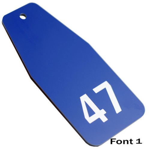 Large Hotel Key Tag. Various Colours. 100mm x 47mm
