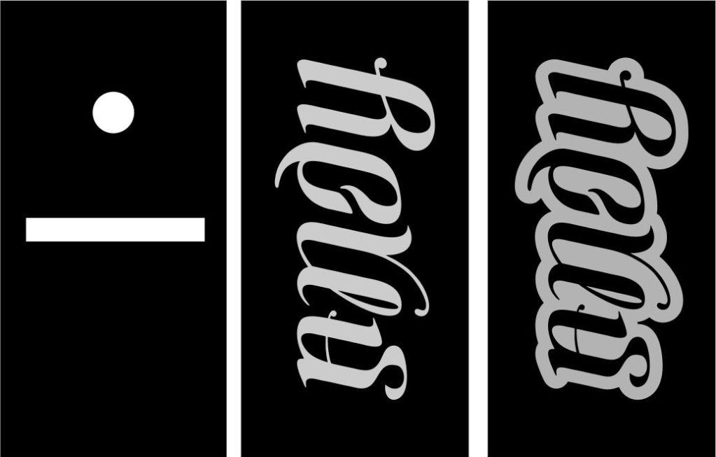 ANDY / BONES ambigram