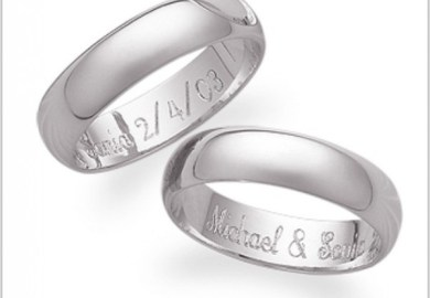 Engraving Wedding Bands Engagement Rings Engraving Glamour