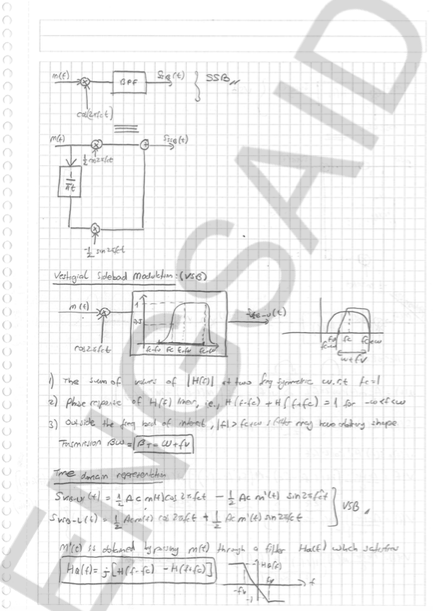 Introduction to Communication Systems Lecture Notes are