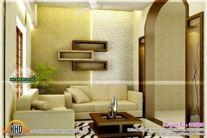 Interior design kerala style living room for Living room design ideas kerala