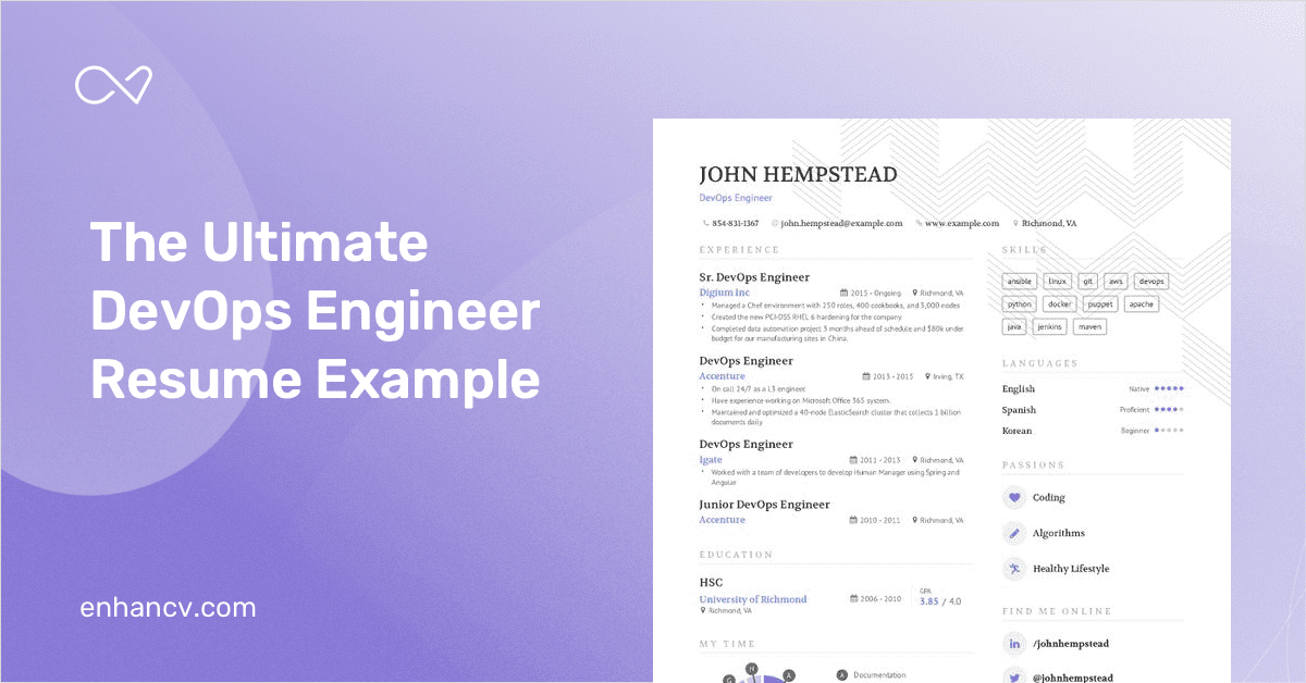 devops resume templates