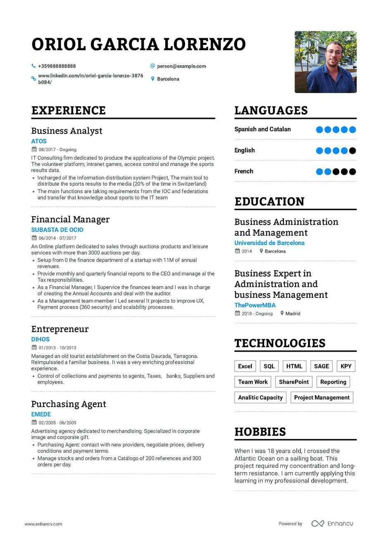 java business analyst sample resume