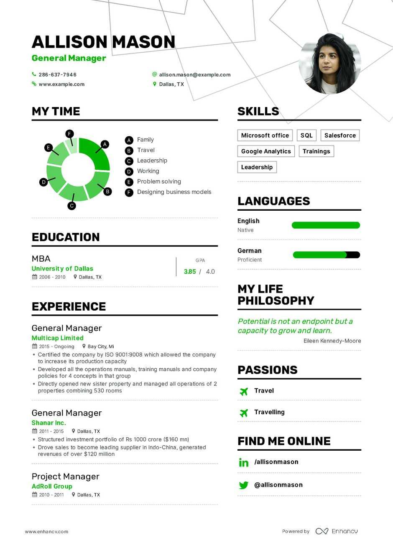 best executive resume example