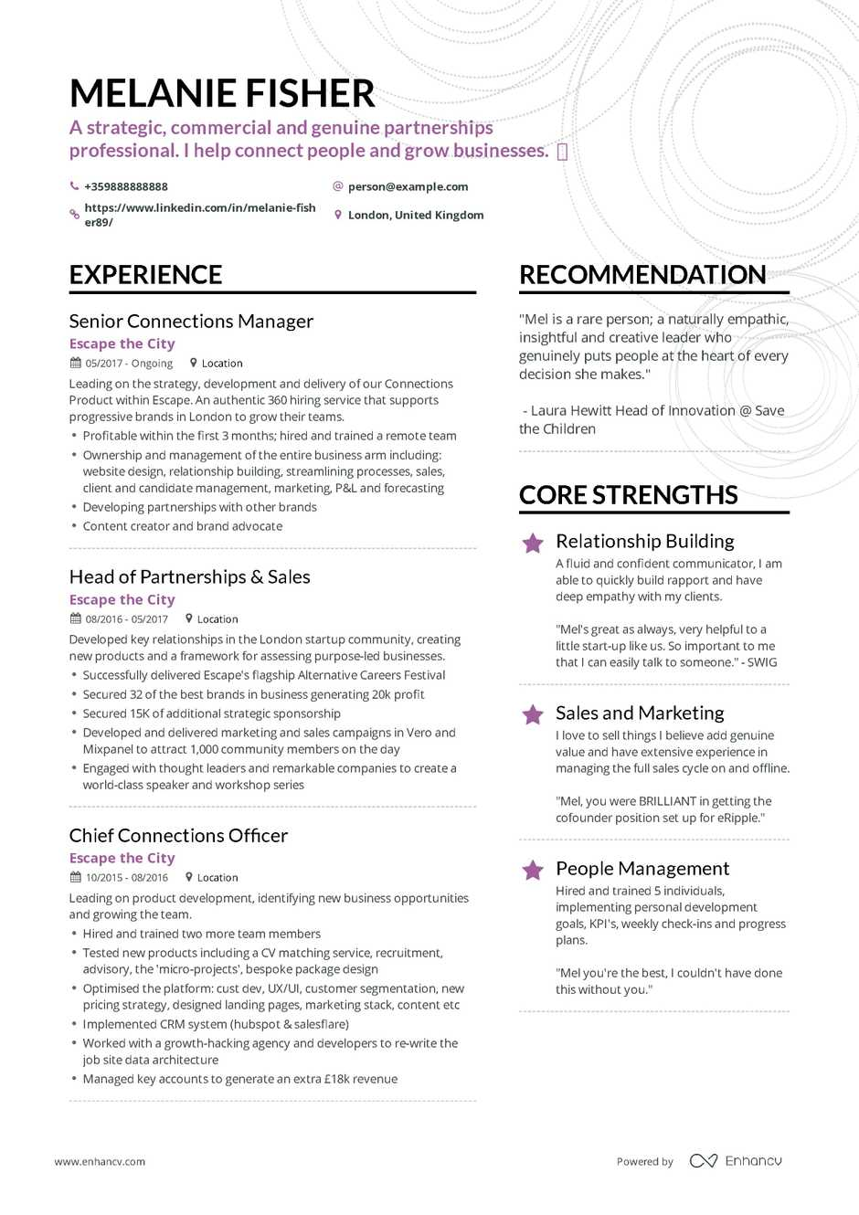 Example Professional Resume Career Change Resume Example And Guide For 2019