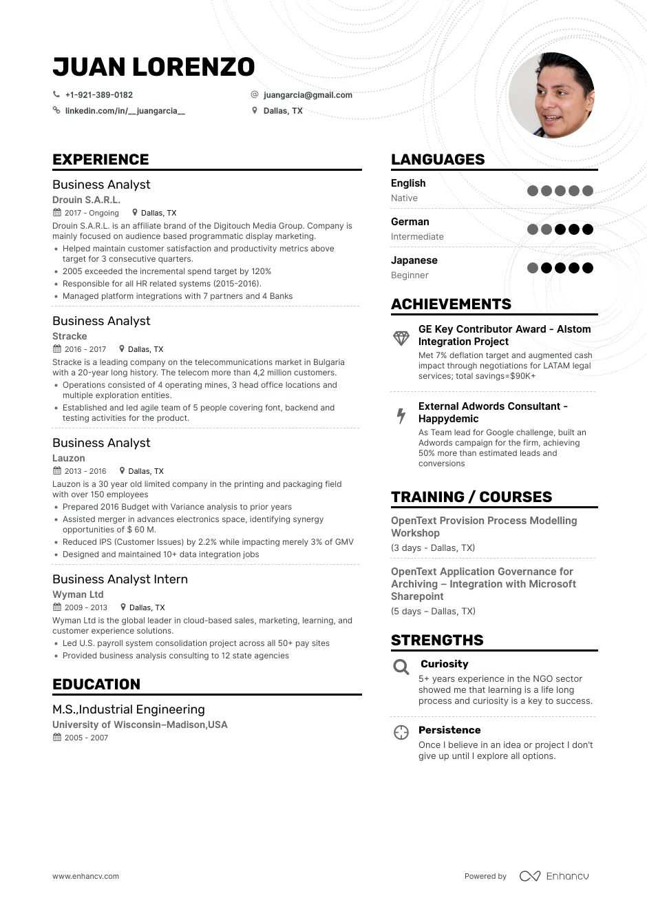 The Best Business Analyst Resume Examples Skills To Get You Hired