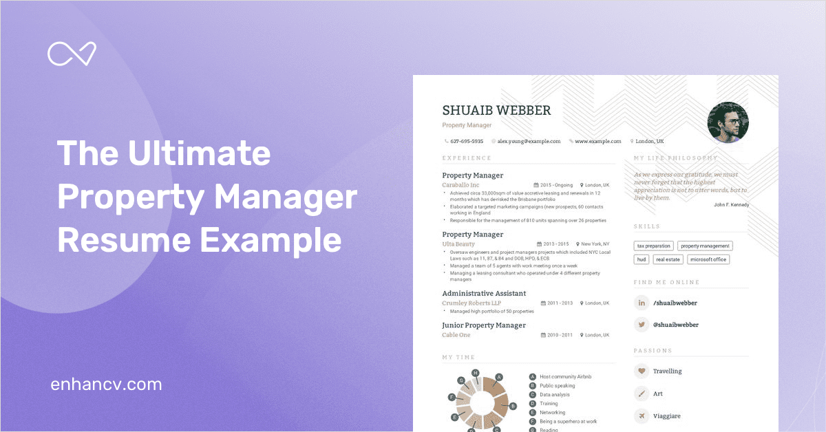 property manager resume examples 2020