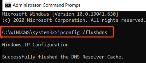 Explained how to flus DNS cache using command prompt