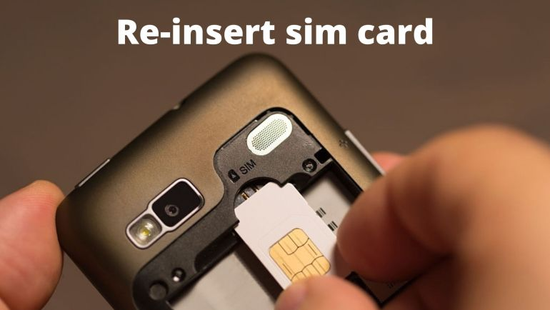 method to fix sim not provisioned