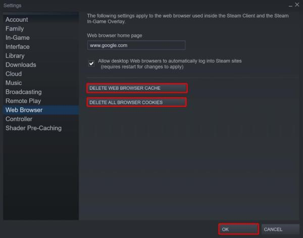 Another method to fix Steam friends network unreachable error