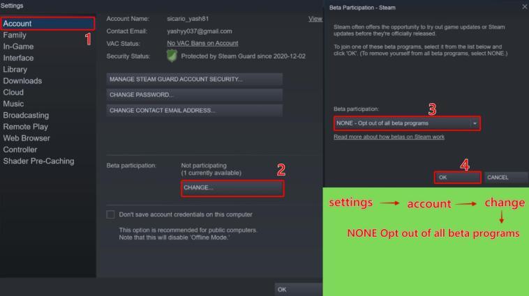 method 1 to fix friends network unreachable in Steam