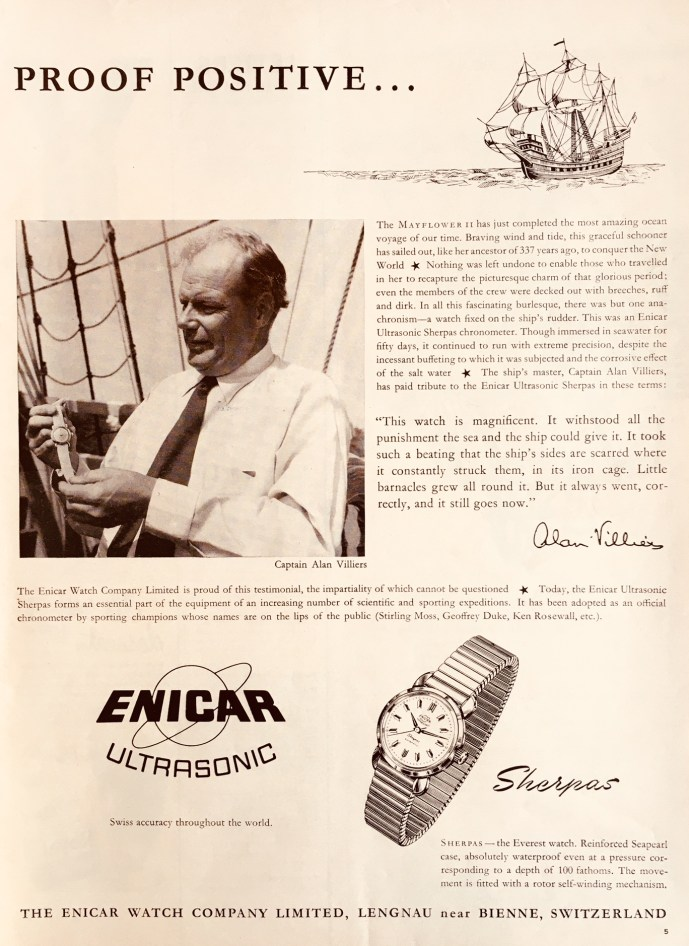 Advertisement Enicar Mayflower II