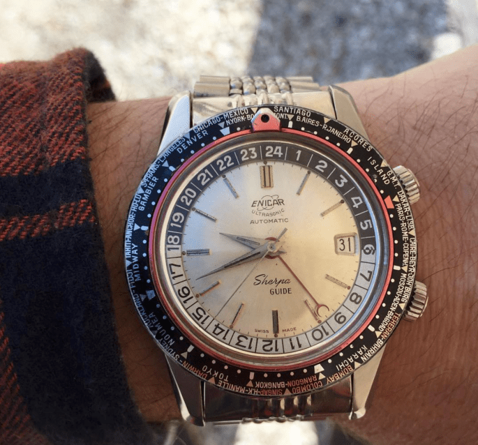 Sherpa Guide MkI white dial and flannel