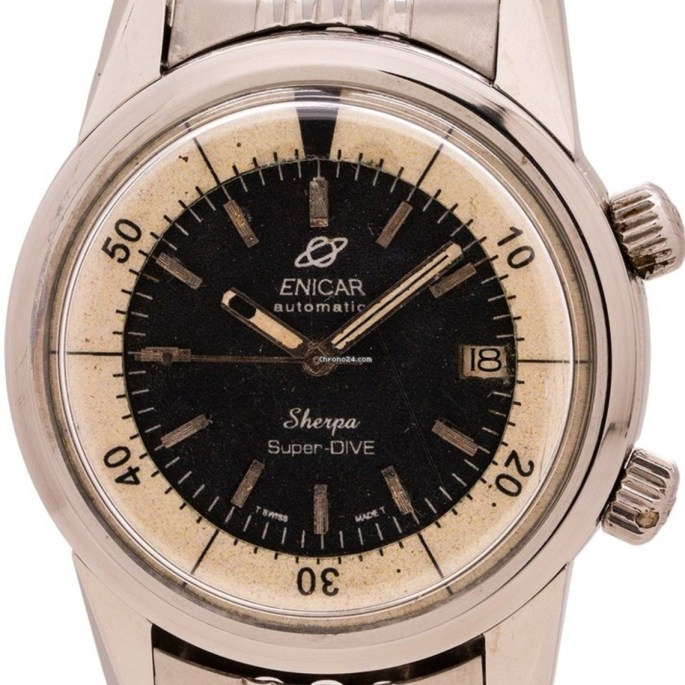 On Chrono24: Super-Dive with awful redone dial for only €3000...