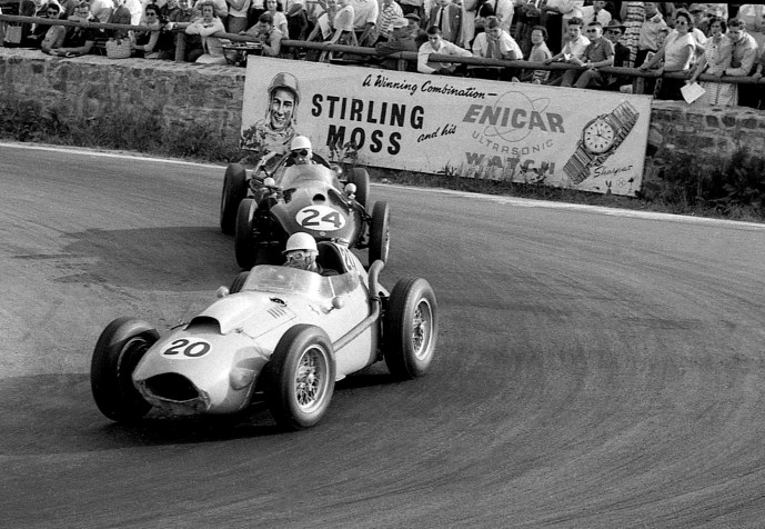 1958 Olivier Gendebien Belgian Ferrari 246 Dino 6th & Roy Salvadori GB Cooper T45 8th Spa Belgian GP GG