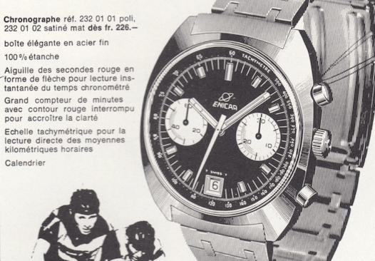 The Enicar 'Lausanne' chronograph