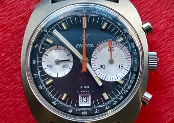The Enicar F45 'Pelé' chronograph